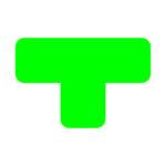 Demarcador de piso formato T